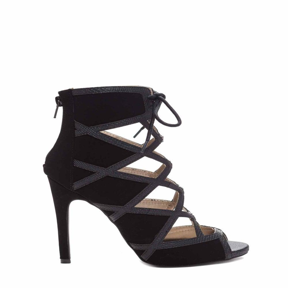 Image of Black Azela Strappy Sandal