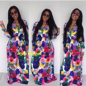 Image of Tia Flower Maxi Dress