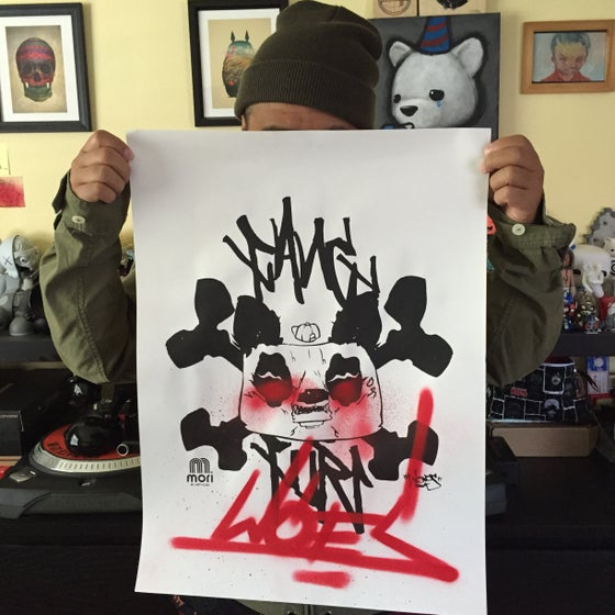 "Image of Hand done Screen Print ""Mori x Woes"""