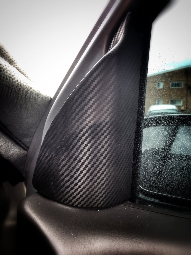 Image of Ford Focus 2000-2007 Carbon Fiber Interior Mirror Covers (2x set)