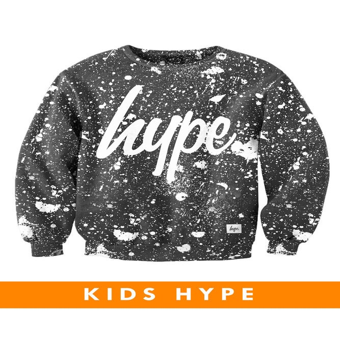 Image of HYPE KIDS. BLACK AND WHITE SPECKLE CREW