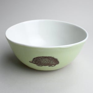 Image of rustic bowl in avocado with hedgehog