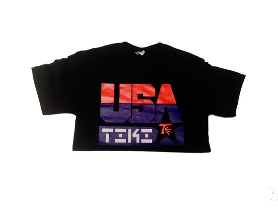 Image of #TIKI USA Tee(Black)