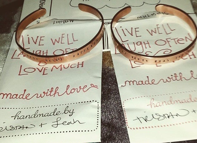 Image of The Heart Wants What The Heart Wants - Handmade Copper Bracelet