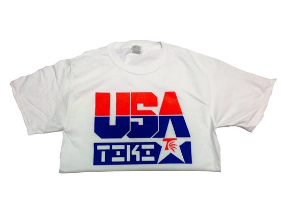 Image of #TIKI USA Tee(White)