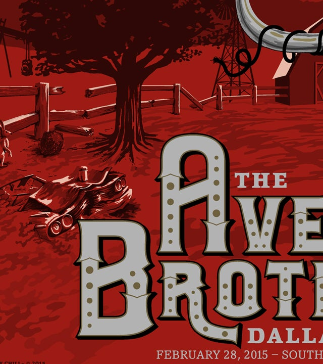 Image of Avett Bros. Dallas 15 Variant