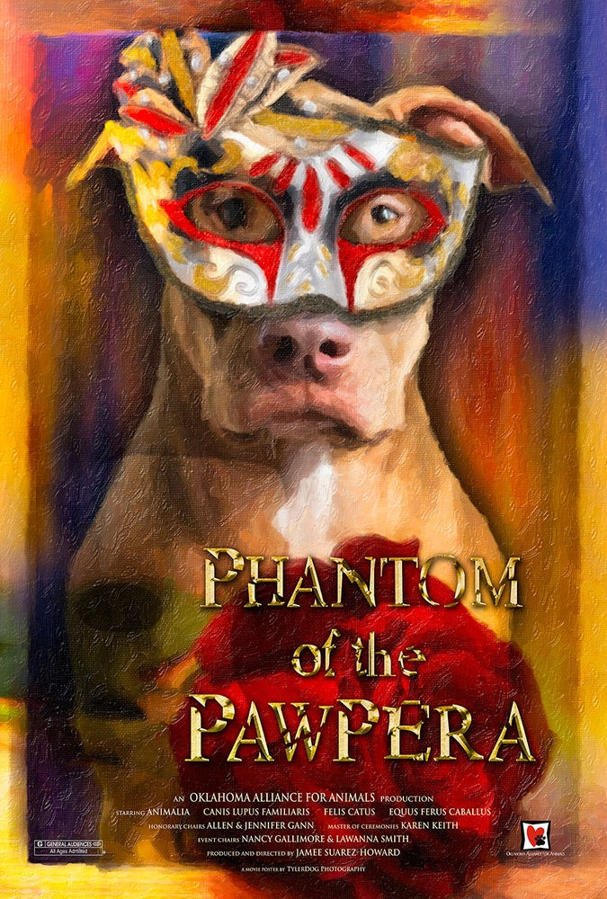 "Image of Limited Edition ""Phantom of the Pawpera"" Movie Poster"