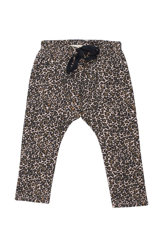 Image of SS15 <> Pantalon sarouel bébé garçon Soft Gallery « Hailey Flower Leo » léopard <> 3M-24M