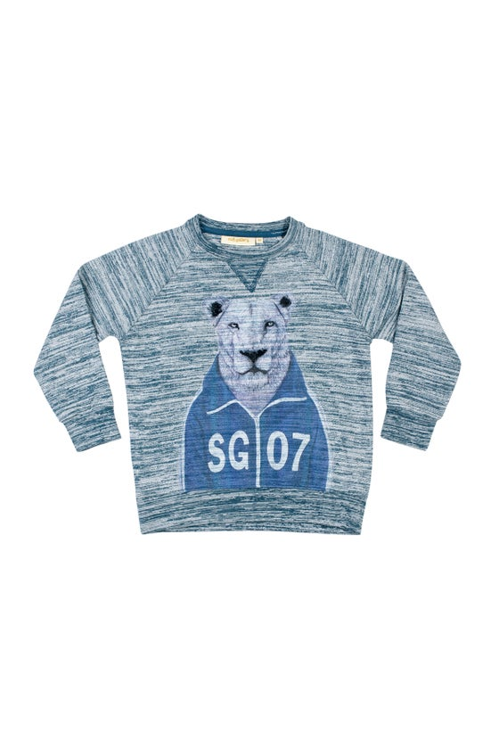 Image of SS15 <> Sweat-shirt garçon Soft Gallery « Silas Workout Lion »