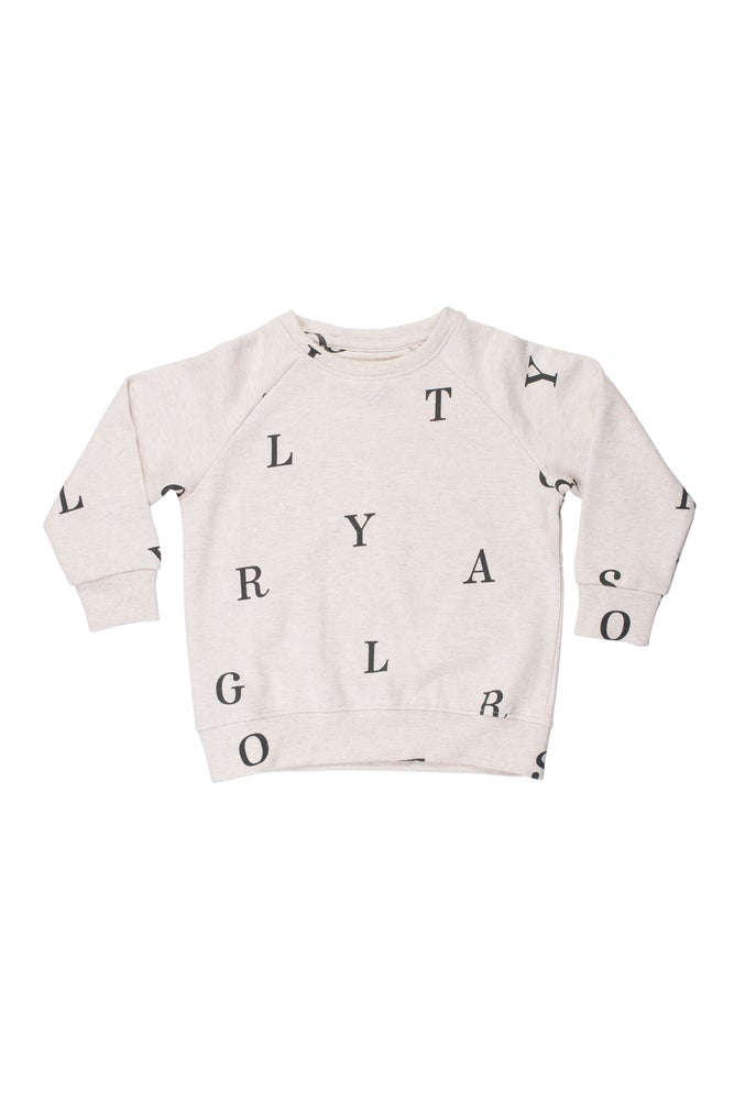 Image of SS15 <> Sweat-shirt garçon Soft Gallery « Silas Letters » <> 2A-10A