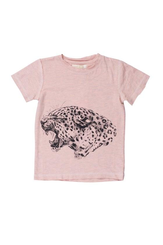 Image of SS15 <> T-shirt manches courtes bébé garçon Soft Gallery « Ashton Panther Roar » abricot