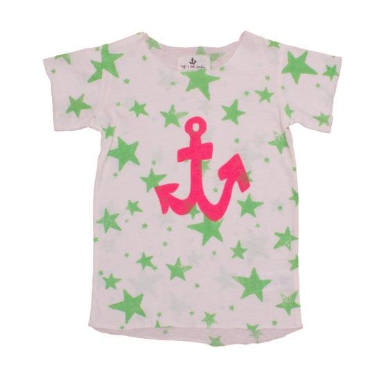 Image of SS15 <> T-shirt manches courtes bébé garçon Noé&Zoé à imprimé étoiles 0-12M
