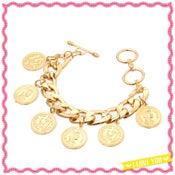 Image of Gold Coin Charm Bracelet