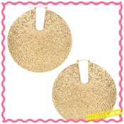 Image of Hammered Golden Disc Earrings