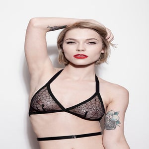 Image of Rosemary Bralette - Spiderweb Lace