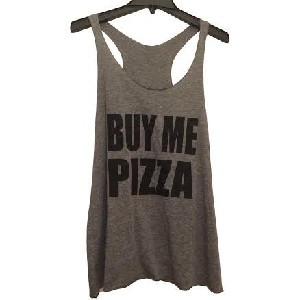 Image of Buy Me Pizza Tank - Gray