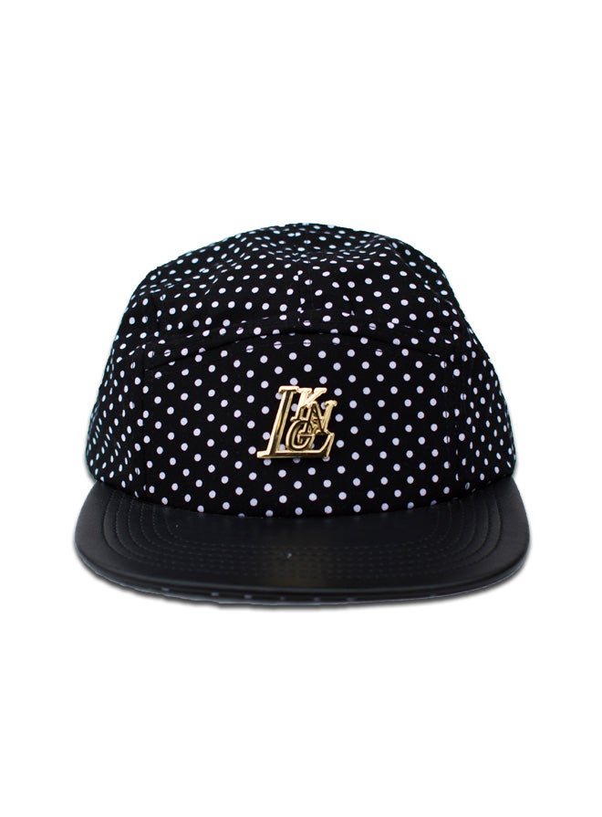Image of Black Polka 5-Panel Cap