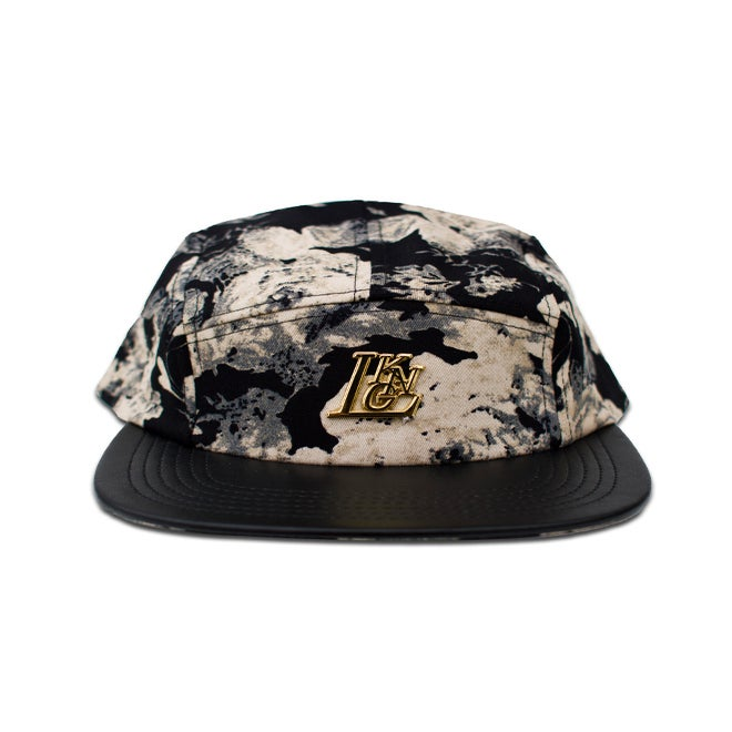 Image of Noir Floral 5-Panel Cap