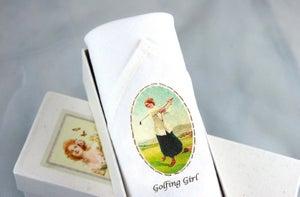 Image of Lady's Handkerchief - Golfing Girl