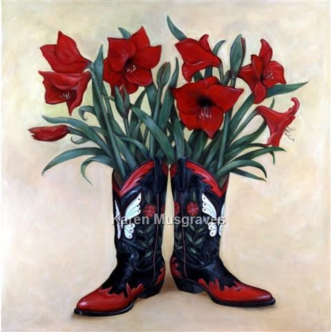 """Image of """"Amaryllis By Morning"""" Canvas Gicleé"""