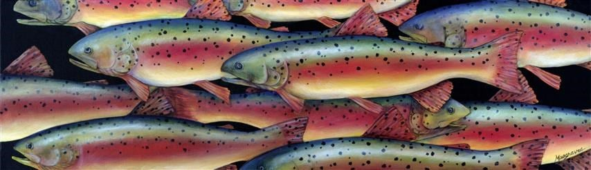 """Image of """"Rainbow Trout"""" Canvas Gicleé"""
