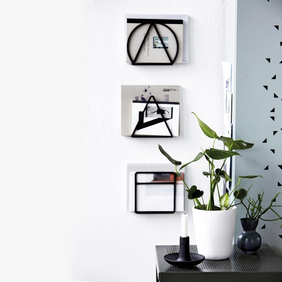 Image of Steel magazine racks