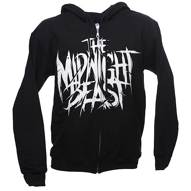 Image of THE MIDNIGHT BEAST HOODIE - BLACK WITH ZIP