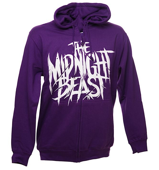 Image of THE MIDNIGHT BEAST HOODIE - PURPLE ZIP