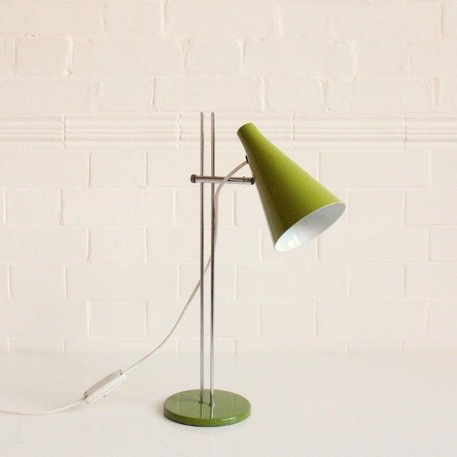 Image of GREEN JOSEF HURKA DESK LIGHTS - DOUBLE STEM
