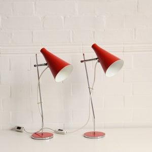 Image of A pair of Josef Hurka table lights, Czechoslovakia 1963.