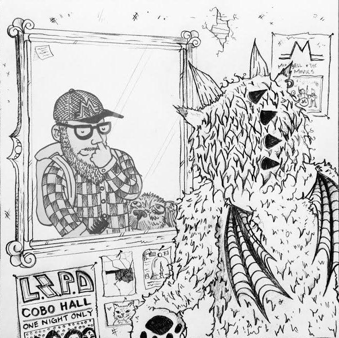 "Image of Mike Bell and the Movies + Lizard Police Split 7"" - Philadelphia/Tulsa"