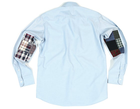 Image of Chemise Oxford & Patchwork