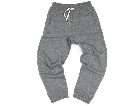 Image of Pantalon Gris laine et coton