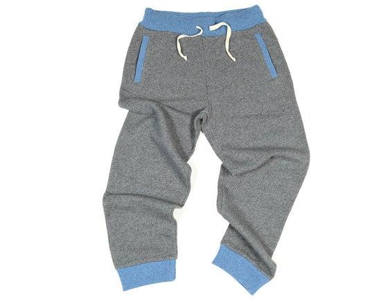 Image of Pantalon Gris & Bleu laine et coton