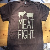 Image of Brown Meat Fight Logo Tee