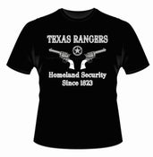 Image of Texas Rangers Homeland Security Since 1823 (Black)