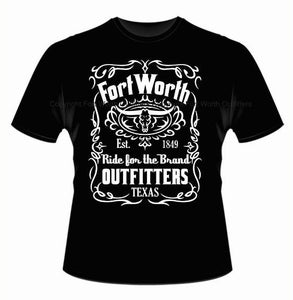 Image of Fort Worth Outfitters 1849 Logo Short Sleeve - Black