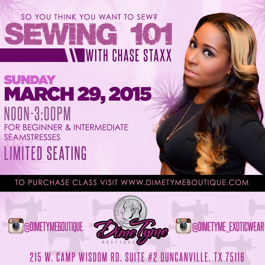 Image of 1 Seat || Sewing Class