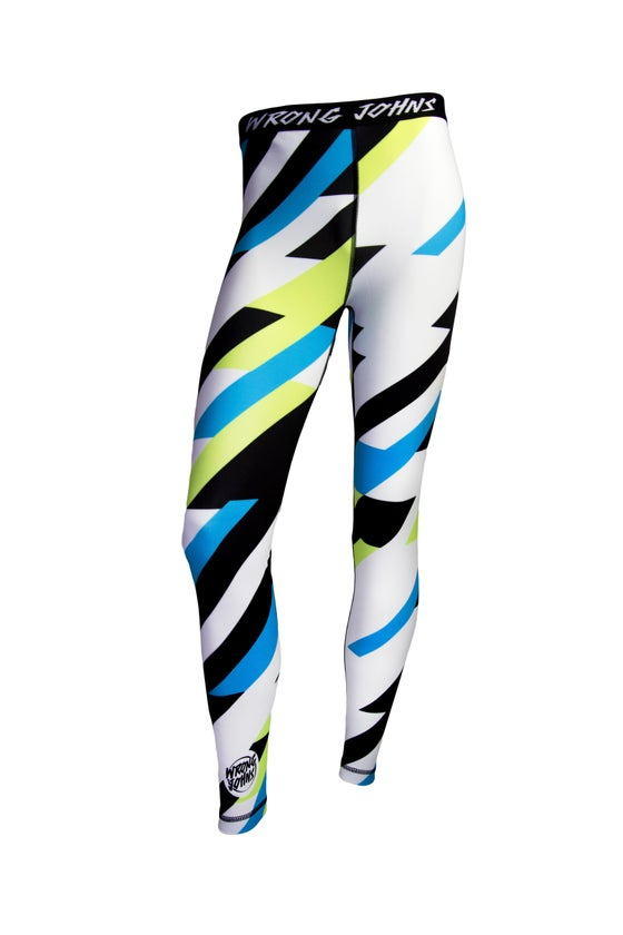 Image of Mens Coloured Striped Thermal Bottoms