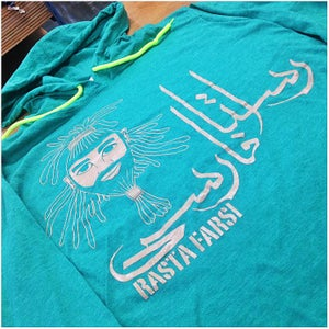 Image of Rasta Farsi long sleeve hooded tee (WOMEN)