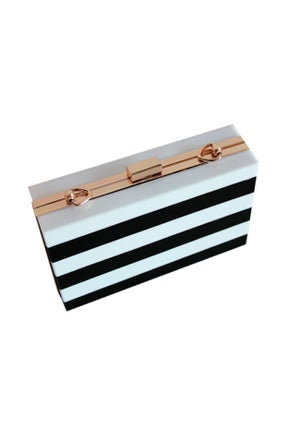 Image of STRIPES CLUTCH