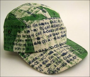 "Image of MJL Kelly ""Green Abstract Gibberish"" Camp Cap"
