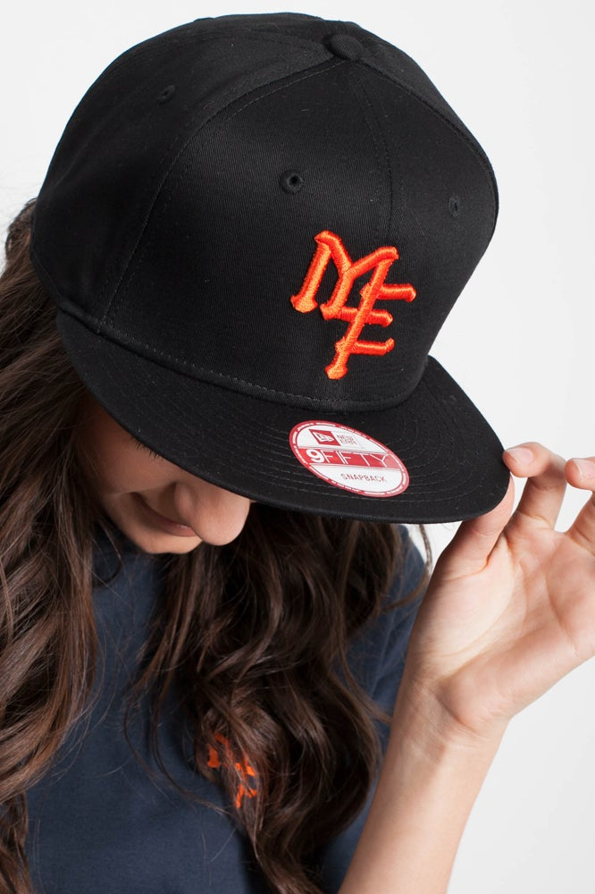 Image of MOOSH M.E.T New Era® 9fifty - BLACK & BLAZE ORANGE