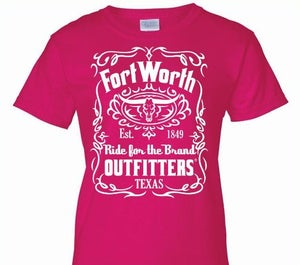 Image of Fort Worth Outfitters 1849 Ladies Pink Short Sleeve