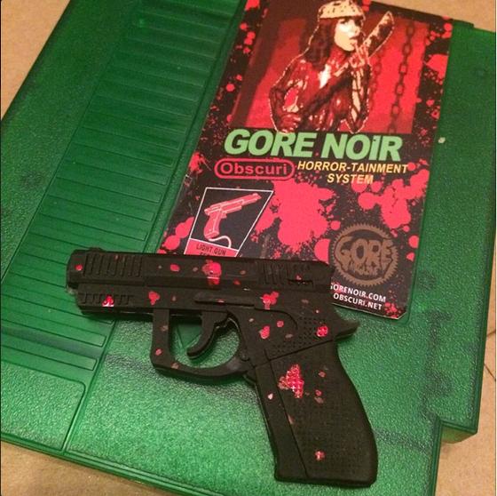 Image of Faux NES color cartridge + splatter 8gb USB gun LOADED!