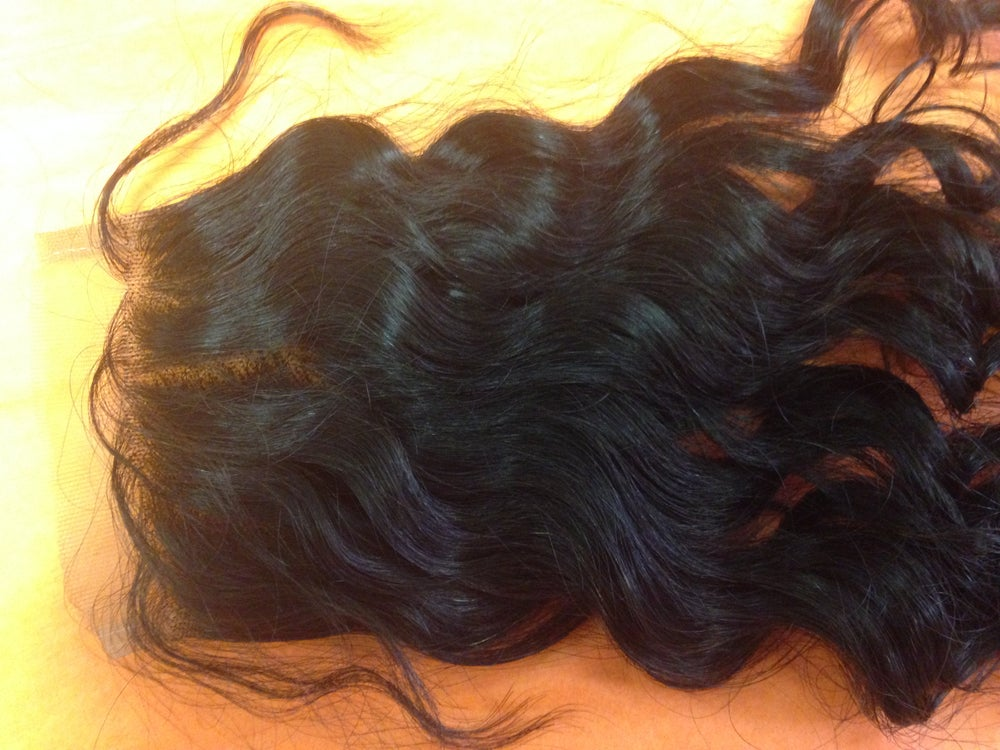 Image of Brazilian Big Curly Lace Closure