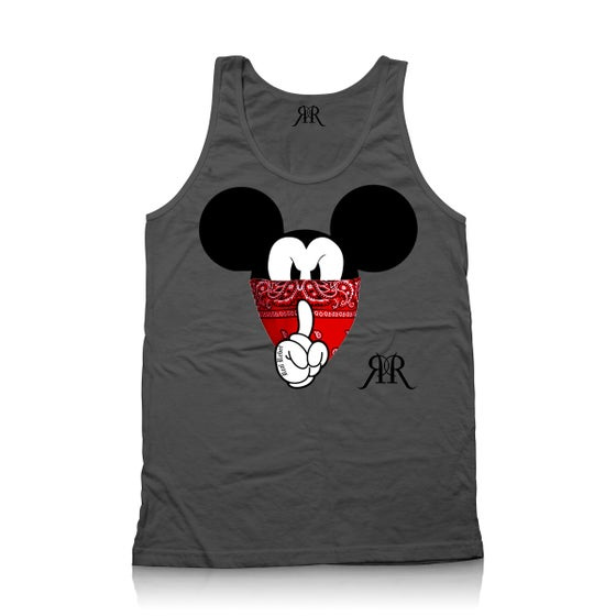"""Image of """"Quiet Like a Mouse"""" Tank Top in Grey"""