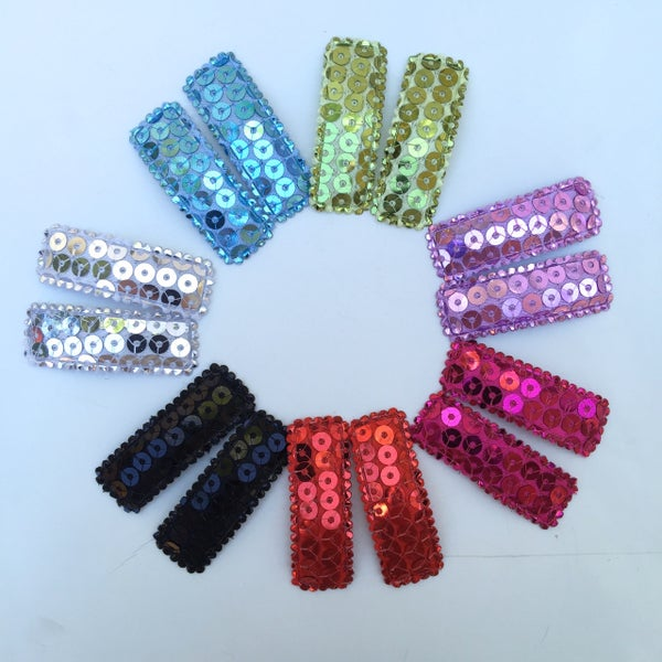 Image of Sparkly Snap Clips