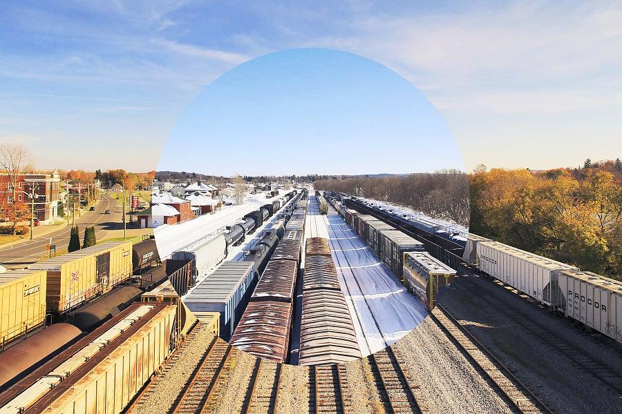 Image of Hiver Été - Trains