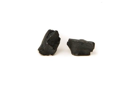Image of oxidised stone earrings